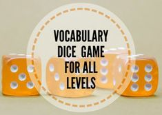 This easy and extremely versatile vocabulary dice game is suitable for all levels and age groups of English learners. It is a great idea to revise vocabulary and might be used as a warm-up activity or to conclude the class. Vocabulary Strategies, Vocabulary Instruction, Vocabulary Games, Teaching Vocabulary, English Vocabulary, English Games For Kids, English Activities, Language Games For Kids, Esl Lessons