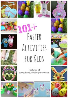 The absolute, must try 101 Easter Activities for Kids! Easter crafts, Easter snacks, Easter learning activities, Easter science and more! Easter Activities For Kids, Holiday Activities, Holiday Crafts, Holiday Fun, Crafts For Kids, Learning Activities, Children Crafts, Children Activities, Easter Art