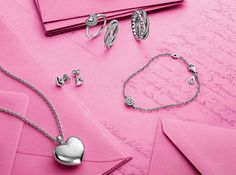 Hearts, hearts, hearts - what kind is your favorite. Locket as pendant, a pave set ring or bracelet... or clean and simple heart earrings #PANDORA #Valentines