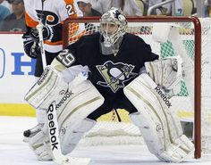 "04/20/12: No ""Knock Knock"" tonight - Playing until the last horn - Keep it up Fleury! (Penguins win game 5, 3-2. Flyers still lead the series, 3-2)"