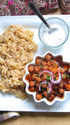Pressure Cooker Chickpea Curry & Brown Rice ONE POT MEAL