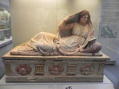 sarcófago. arte etrusco