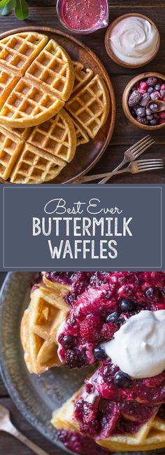 Best Ever Buttermilk Waffles - All you need to know to make perfect waffles, nice and crispy on the outside, and soft and fluffy on the inside!