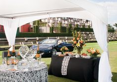 Classic and sophisticated Polo tailgate designed by the International Polo Club. Photo by Jerry Rabinowitz