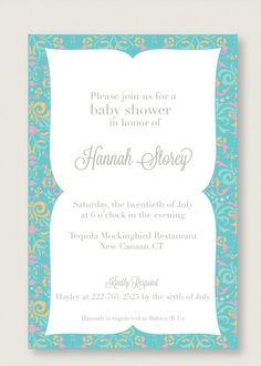 arabic inspired baby shower invitation