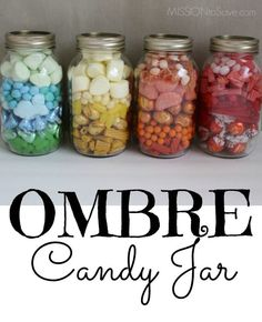 Make these adorable DIY Ombre Candy Jar Gifts for a teacher, thank you, friendship or just because.  You can also find Free printable tags to go with the color theme.  (all supplies bought at Big Lots, #BigLotsFirst #sponsored)