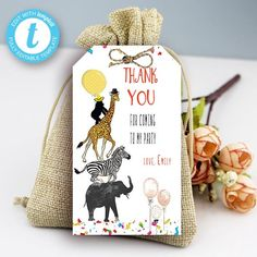 Editable Party Animals Thank You Card, Party Animals instant download invitation,You print birthday invitation, Party Animals DIY party Party Animals, Animal Party, Card Party, Diy Party, Party Printables, Birthday Celebration, Birthday Invitations, Thank You Cards, First Birthdays