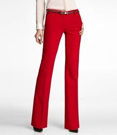 ULTIMATE DOUBLE WEAVE SLIM FLARE COLUMNIST PANT at Express - want these pants for when I start working