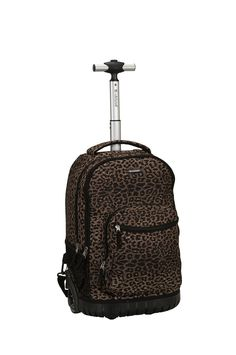 Amazon.com: Rockland 19 Inch Rolling Backpack, Leopard, One Size: Clothing