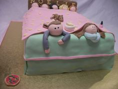 Sleepover Birthday Party Cake and Cupcakes