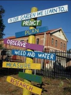 "A great way to explain the benefits of gardening in early childhood environments. Found on early childhood blog ""let the children play""."