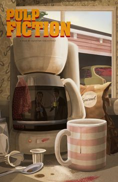 Pulp Fiction by Owen LaMay – Home of the Alternative Movie Poster -AMP 90s Movies, Iconic Movies, Good Movies, Tarantino Films, Quentin Tarantino, Tarantino Pulp Fiction, Non Plus Ultra, Culture Pop, Movie Poster Art