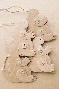 cardboard new year's tree toys