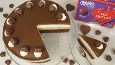 Die festliche Milka-Herz-Torte ist perfekt für den kommenden Muttertag oder wenn ihr jemanden einfach Danke sagen möchtet. Sie besteht aus lockerem Kakao...