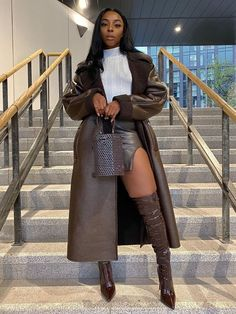 Winter Mode Outfits, Winter Fashion Outfits, Autumn Winter Fashion, Fall Outfits, Women's Brown Outfits, Dinner Outfits, Boujee Outfits, Classy Outfits, Stylish Outfits
