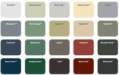 dulux green colour chart - Google Search