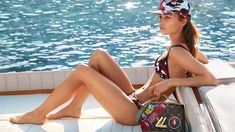 Clad in a bikini, Alicia Vikander poses in Louis Vuitton cruise 2018 campaign