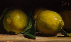 Julian Merrow-Smith | Lemons, oil on board, 2012