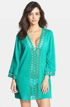 HOT Sexy Lace Crochet Hollow Robe Beach Coverup 4 Colors One Size
