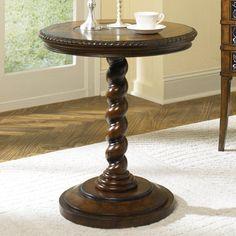 Hidden Treasures Barley Twist Pedestal Nightstand - T71054-00