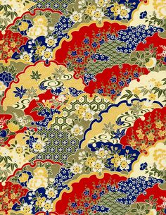 Classic hills floral washi on Hanko Designs. Japanese Textiles, Japanese Prints, Japanese Design, Chinese Patterns, Japanese Patterns, Japanese Paper, Japanese Fabric, Korean Art, Asian Art