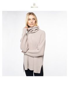 We present you the first woolly knitted sweater in the history of INA KESS. The San Maurizio Sweater made of the finest merino and cashmere wool promises a cuddly fall of well-being 😍 Cashmere Turtleneck, Cashmere Wool, Cashmere Sweaters, Smart Outfit, Sweater Making, Warm Sweaters, Truffles, Stretch Fabric, Turtle Neck