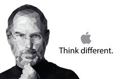 Low poly steve jobs low poly pinterest low poly and steve think different idea metaphor powerpoint background and template toneelgroepblik Image collections