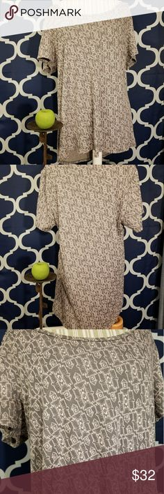 🌻🌺🌻LULAROE IRMA TUNIC-NWOT!! LULAROE IRMA TUNIC-NWOT!! Size 2XL. NO FLAWS, NWOT! Cute design. Gray color with blush pink design etching. Posh Ambassador, buy with confidence! Check out my other items to bundle and save on shipping! Reasonable offers welcome. I ship same or next day!    Inventory #RA50 LuLaRoe Tops
