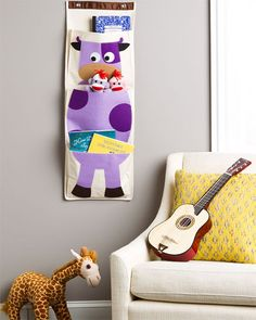 3 Sprouts Cow Wall Organizer