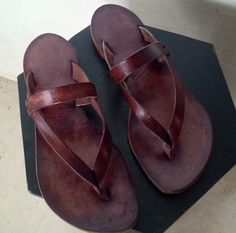Handmade Leather Thong Sandals