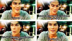 "I love when he says ""rippah"" too The Vampire Diaries 3, Vampire Diaries The Originals, Damon And Stefan Salvatore, The Salvatore Brothers, Vampire Dairies, Mystic Falls, Joseph Morgan, Ian Somerhalder, Delena"
