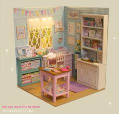 2016, Octubre. Bedroom♡ ♡ Scale 1/6 by Nerea Pozo Art