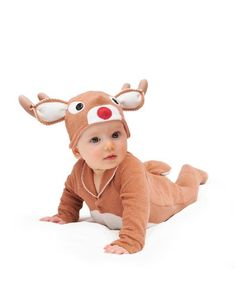 Oh my goodness just how cute is this baby reindeer outfit, so perfect for Baby's first Christmas, just think of the photos they would be so cute! Christmas Presents For Babies, First Christmas Photos, Christmas Photo Props, Baby Christmas Gifts, Christmas Costumes, Babies First Christmas, Woodland Christmas, Christmas Clothes, Childrens Halloween Costumes