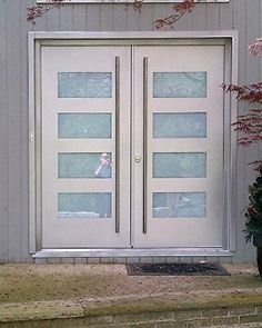 modern dark wood and frosted glass front door Milano-14 Combo ...