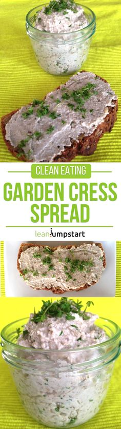 clean eating for beginners garden cress sunflower seeds spread Clean Dinner Recipes, Clean Dinners, Clean Eating Dinner, Clean Eating Recipes, Vegan Clean, Healthy Snacks, Healthy Recipes, Clean Eating For Beginners, Cress