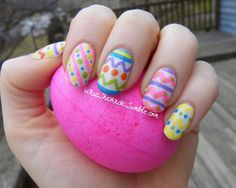 I am unfolding before you Easter egg nail art designs, ideas, trends & stickers of Have a look at the collection. Nail Art Designs, Easter Nail Designs, Easter Nail Art, Nails Design, Boxing Day, Shellac, Nailart, Moda Retro, Halloween Nail Art