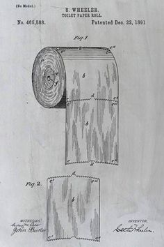 A 124 year old toilet paper roll patent