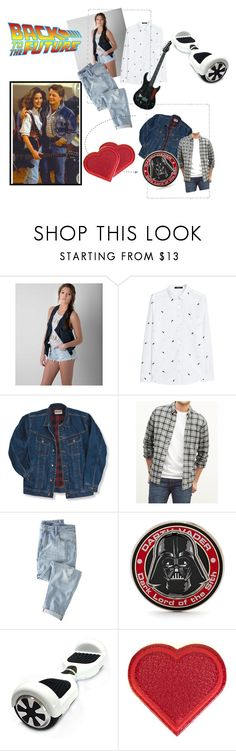 """""""Back To The Future"""" by rachna-priyanka ❤ liked on Polyvore featuring Free People, MANGO, Wrangler, Abercrombie & Fitch, Wrap, Marvel, Anya Hindmarch, fashionblogger, backtothefuture and bttf"""