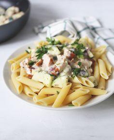pasta met courgette en bechamelsaus