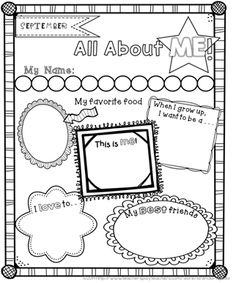 FREE all about me posters for the beginning and end of the year! Sample of my year-long memory scrapbook.