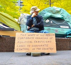 The #1 best #OccupyWallStreet sign we've seen. Share this with your friends who just don't get what Occupy is fighting for.
