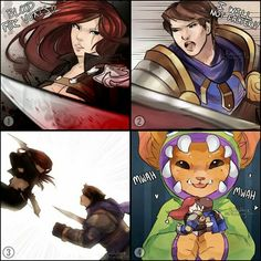 League of Legends - Katarina and Garen,  Gnar's dolls