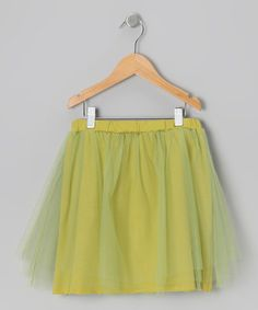 Take a look at this Pistachio Maya Organic Skirt - Toddler & Girls by Little Society on #zulily today!