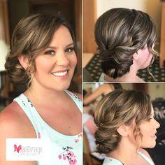 Maquillaje y peinado para dama de honor, un peinado recogido elegante y un maquillaje natural y elegante