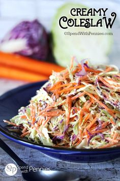 This really is the best Coleslaw Recipe! Creamy, zesty and crunchy. the perfect side for any BBQ & the perfect topper for pulled pork or burgers!No sugar Pulled Pork Burger, Coleslaw For Pulled Pork, Vegetable Recipes, Vegetarian Recipes, Cooking Recipes, Healthy Recipes, Best Coleslaw Recipe, Homemade Coleslaw, Creamy Coleslaw