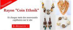 Nouveau rayon de bijoux ethniques sur www.dinafroshop.com site pour cheveux bouclés, frisés, crépus.
