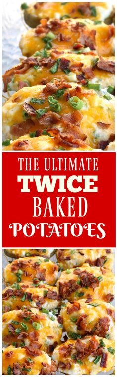 Baked Potatoes The Ultimate Twice Baked Potatoes - you can go wrong with this side dish. the-girl-who-ate-The Ultimate Twice Baked Potatoes - you can go wrong with this side dish. the-girl-who-ate- Side Dish Recipes, Dinner Recipes, Top Recipes, Brunch Recipes, Holiday Recipes, Yummy Recipes, Best Twice Baked Potatoes, Good Food, Yummy Food