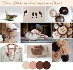 cream, dusty pink, chocolate
