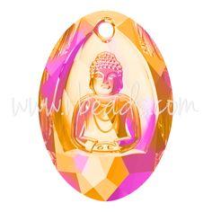 Swarovski 6871 Buddha Anhänger crystal astral pink 28x19.8mm (1)