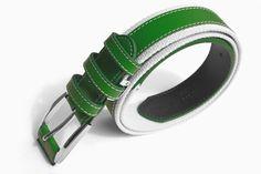 Der Gürtel Striker in grün ein modisches Accessoir für Sie und Ihn gefertigt aus Canvas und echtem Kuhleder Bracelets, Jewelry, Fashion, Cow, Leather, Moda, Jewlery, Bijoux, Fashion Styles